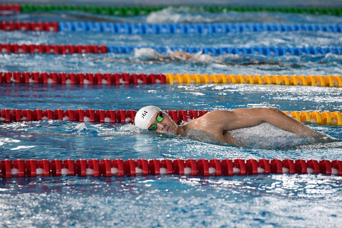 China's Sun Yang during training session at the Aquatics center of the Asian Games in Jakarta on Saturday. AFP