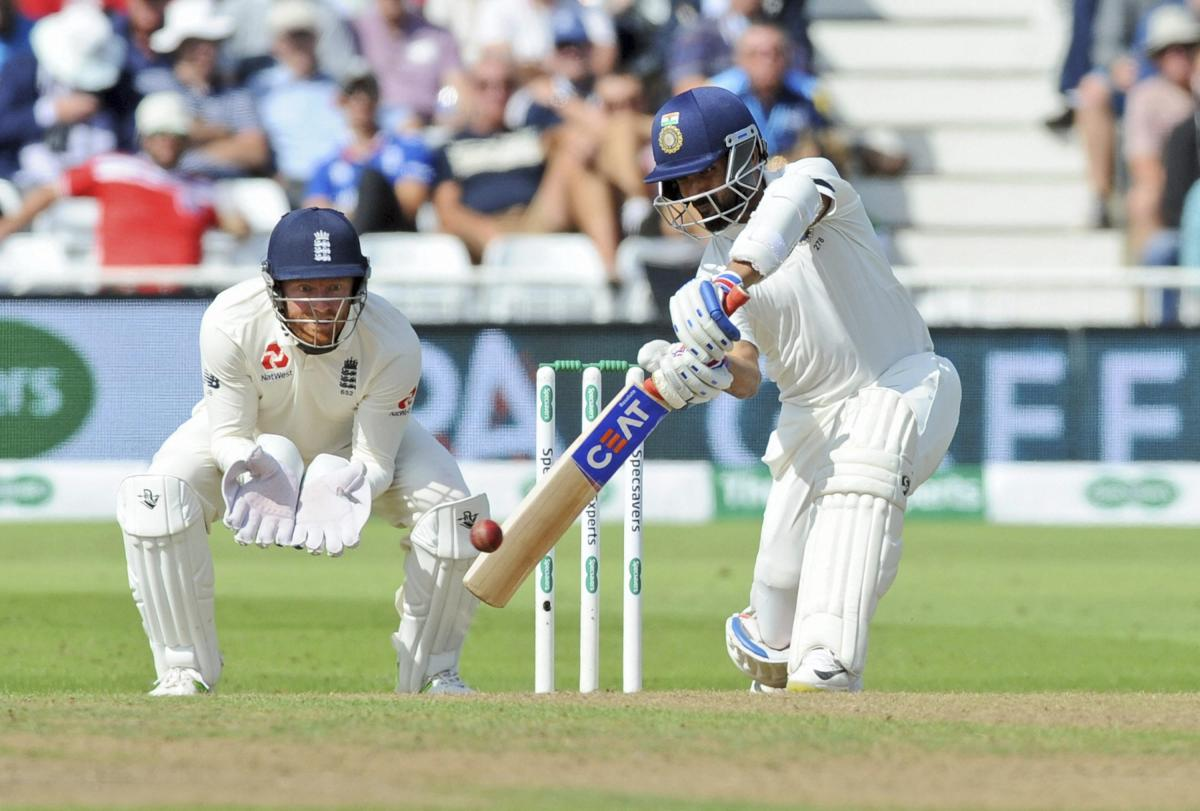 BACK IN FORM: India's Ajinkya Rahane ended his woeful run by scoring a half-century in the third Test. AP/PTI