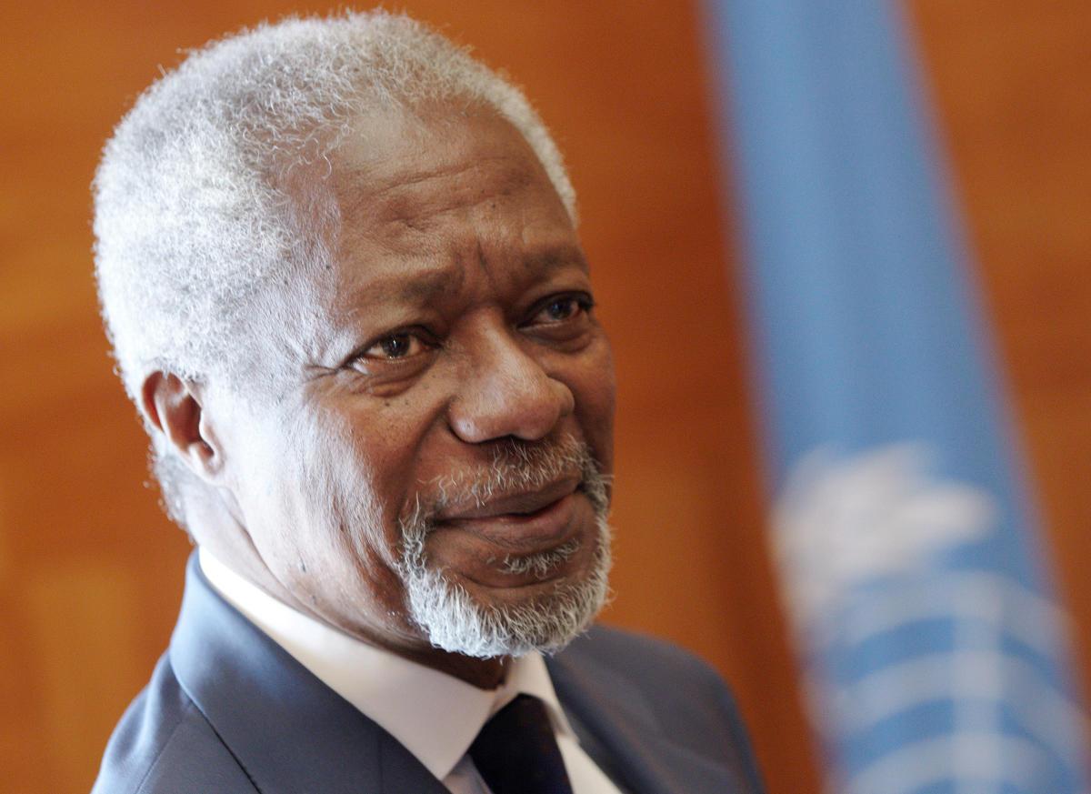 Former UN secretary-general Kofi Annan. (Reuters File Photo)