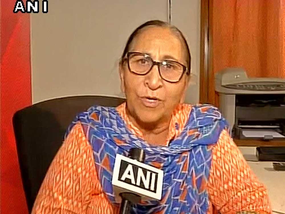 Dalbir Kaur, sister of Sarabjit Singh. Image courtesy ANI/Twitter