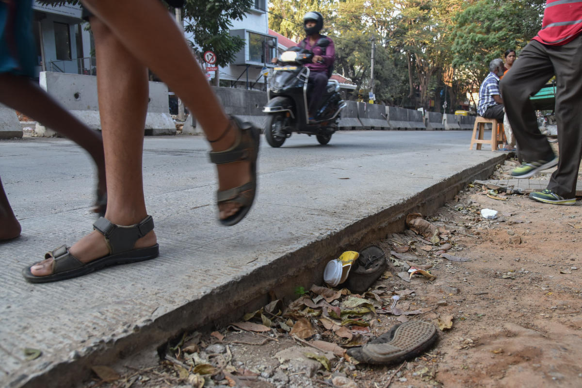 A white-topped road in Koramangala. DH FILE PHOTO