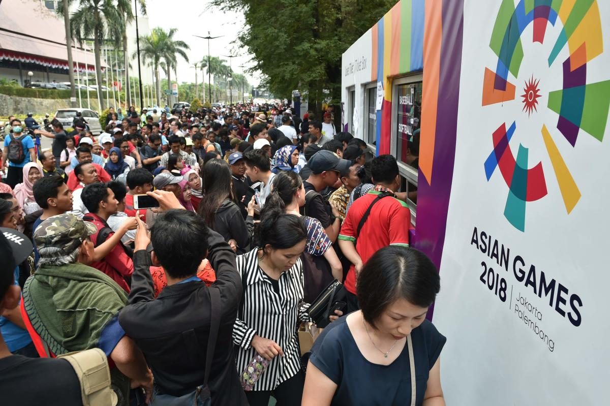 The dearth of Asian Games tickets have left people frustrated. AFP