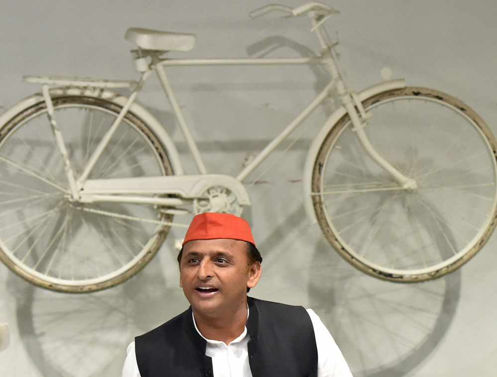 Samajwadi Party chief Akhilesh Yadav on Wednesday announced that a grand city named after Lord Vishnu would be developed, which would have a spectacular temple inspired by Cambodia's sprawling Angkor Wat, in the state if his party comes to power. PTI file photo