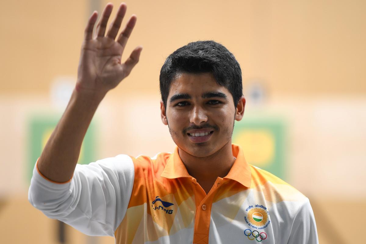 India's Saurabh Chaudhary. AFP