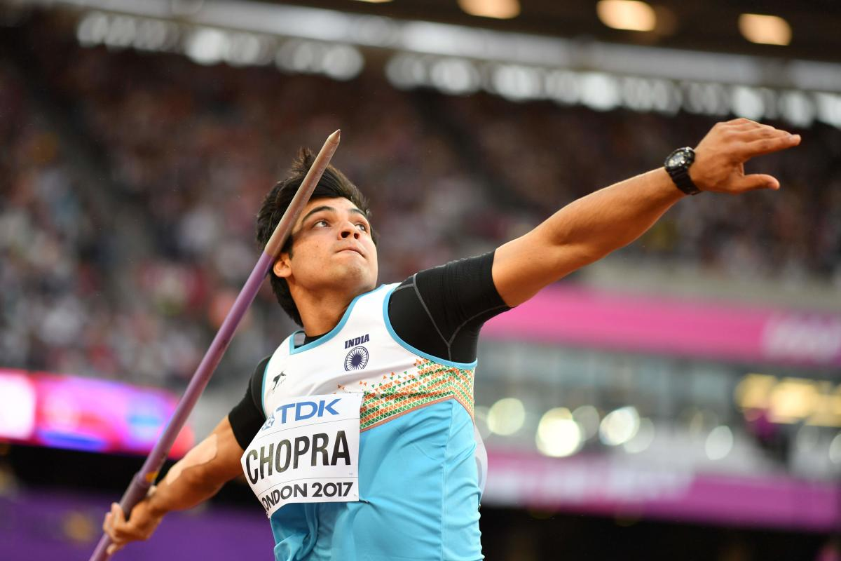 Neeraj Chopra has the potential to win gold in javelin throw. AFP File Photo