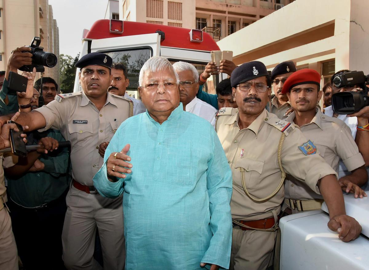 Former Bihar Chief Minister and RJD Supremo Lalu Prasad Yadav. PTI file photo.