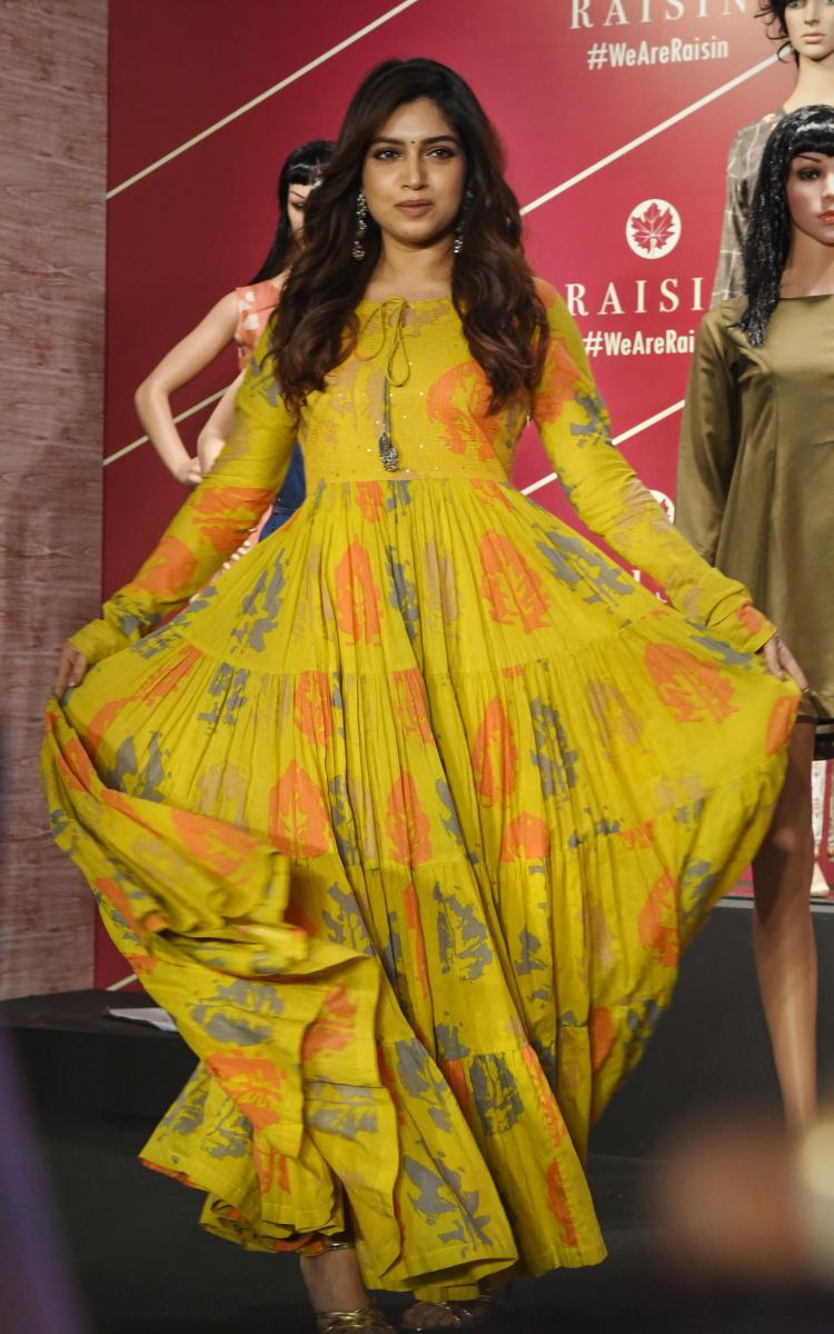 Actress Bhumi Pednekar during the launch of a contemporary clothing line, in Mumbai. PTI Photo