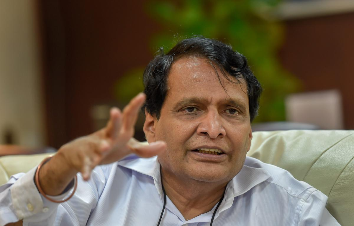 Union Civil Aviation Minister Suresh Prabhu. PTI