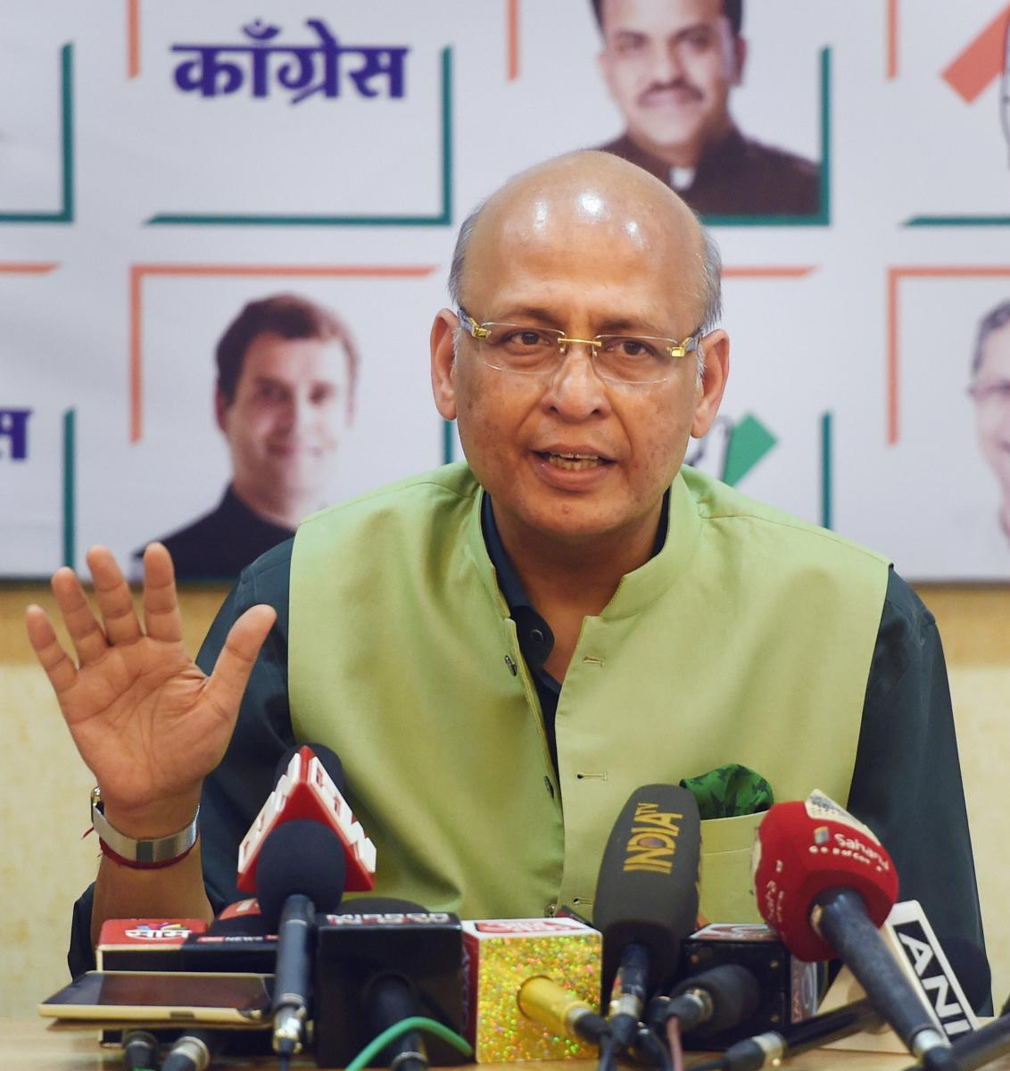 """Accusing the government of repeatedly displaying """"intrusive and nosy behaviour"""", Congress spokesperson Abhishek Singhvi said the BJP-led government wants """"an India that is defined by them"""". (PTI Photo)"""