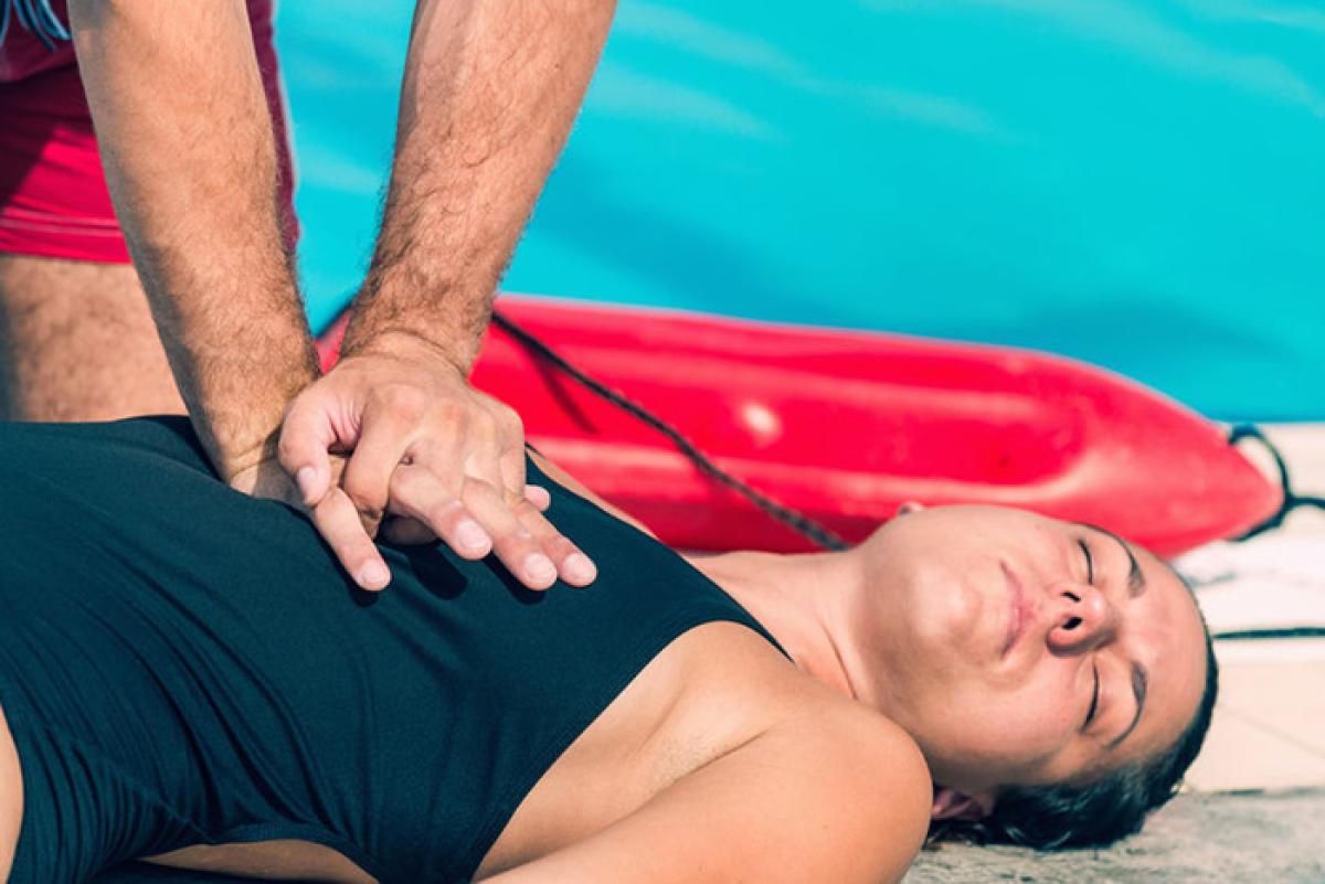 Demonstration of cardiopulmonary resuscitation (CPR)