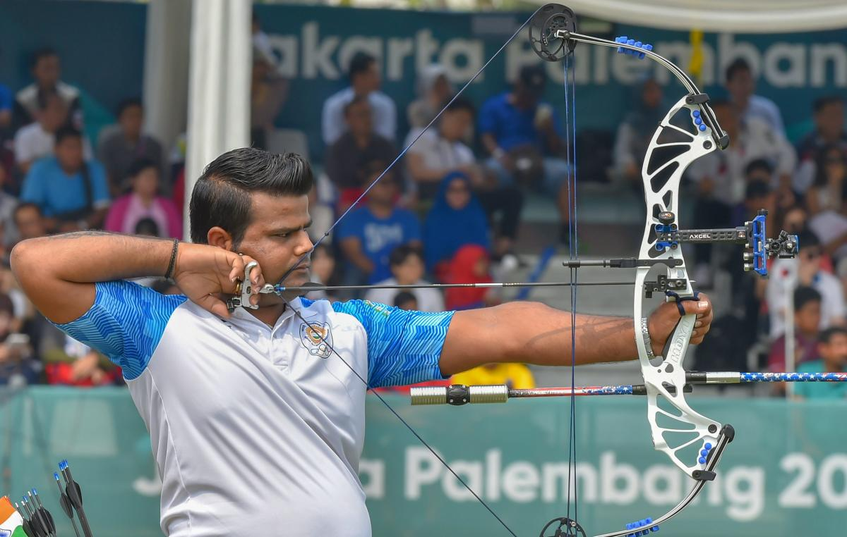 Indian archer Rajat Chauhan. PTI Photo