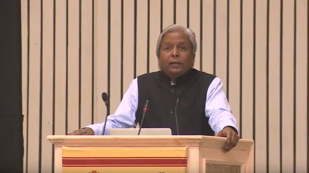 Prof K Vijayraghavan. (pic courtesy YouTube/Department of Biotechnology)