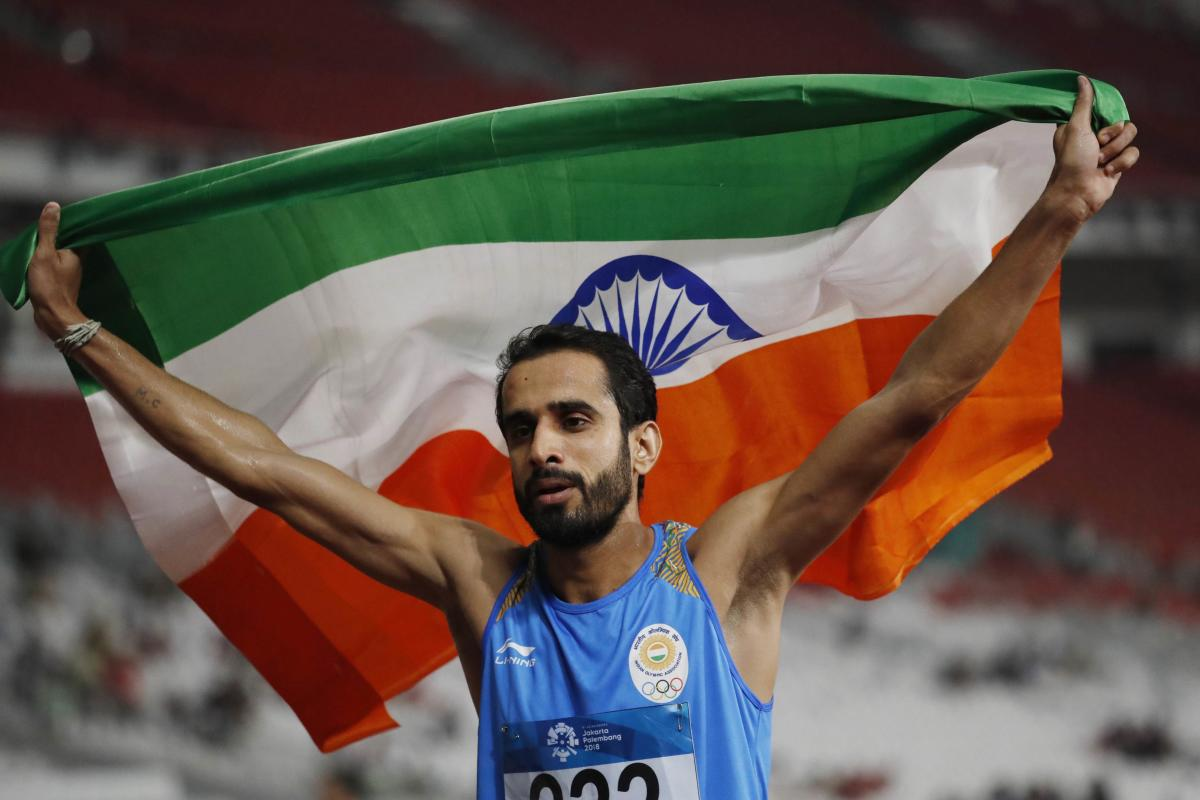 Manjit Singh upstaged pre-race favourite compatriot Jinson Johnson to win gold in men's 800m in a 1-2 finish for India in the event. Reuters Photo