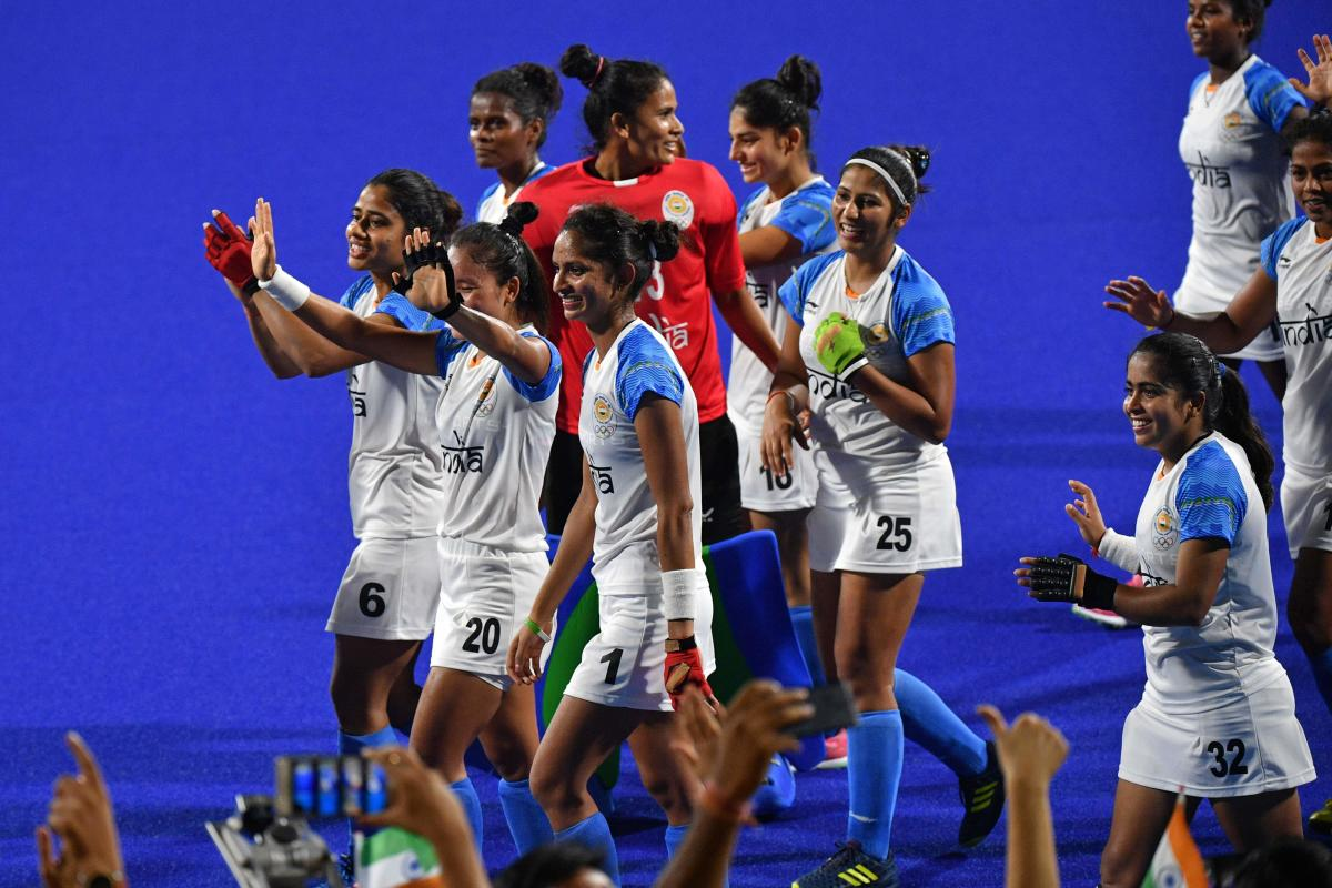 ON THE CUSP OF GLORY Indian eves will be keen to put on another collective performance in the final against Japan. AFP