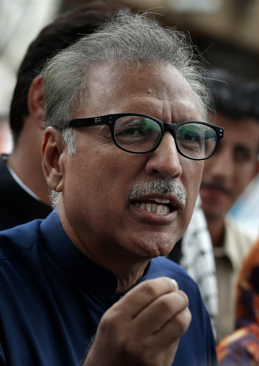Alvi is a Karachi-based dentist-turned-politician, who reportedly stood by prime minister Imran Khan during his political career. Ap/PTI Photo