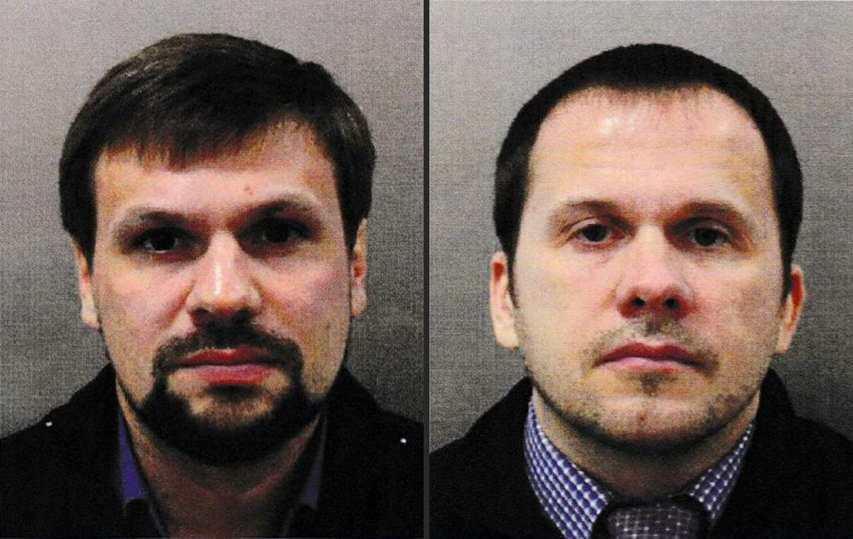 Ruslan Boshirov and Alexander Petrov are wanted by the British police in connection with the nerve agent attack on former Russian spy Sergei Skripal and his daughter Yulia. AFP