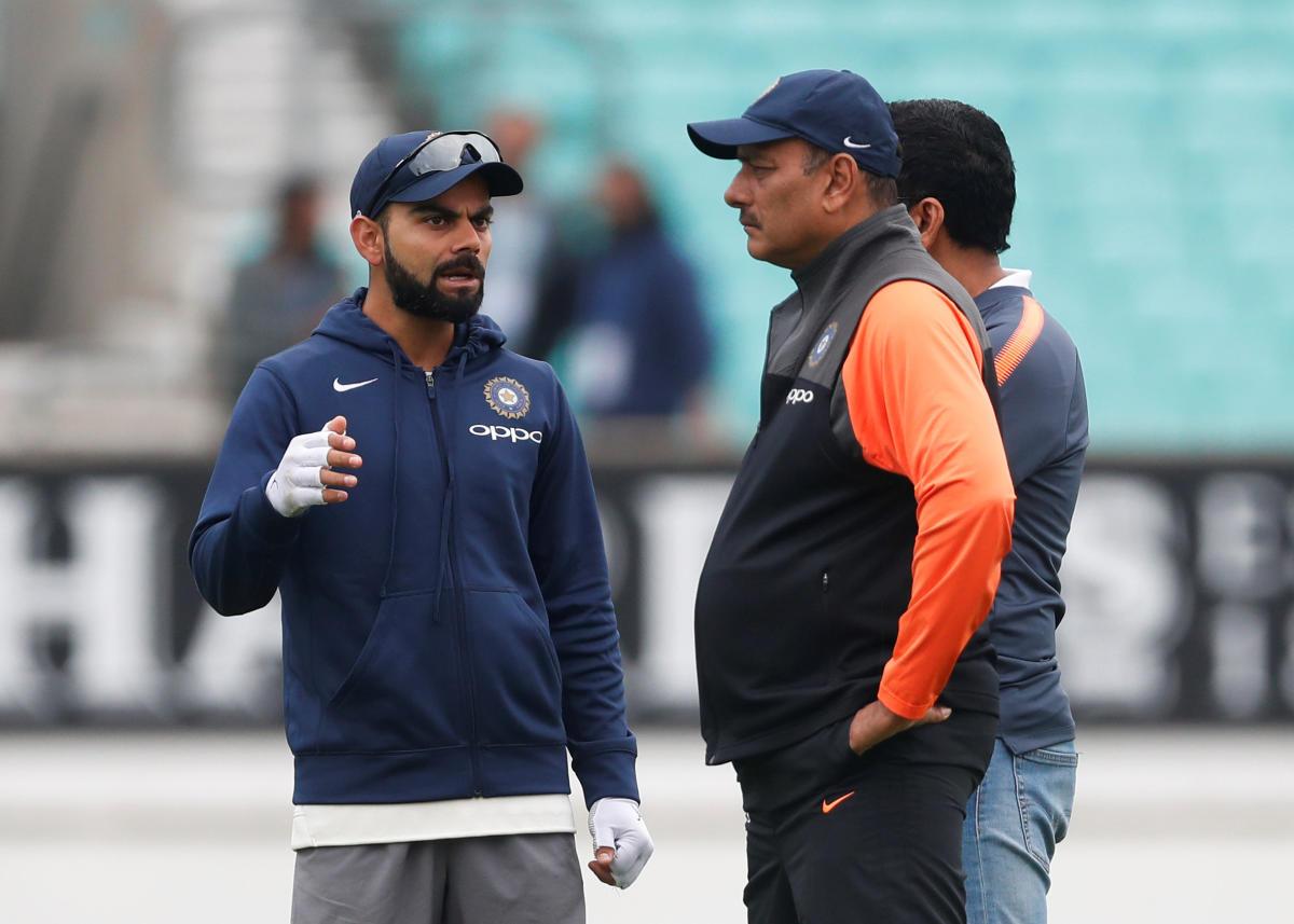 Skipper Virat Kohli (left) and head coach Ravi Shastri. Reuters