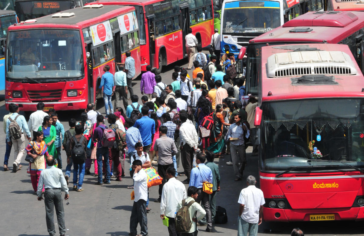 To be follow with Shashikanth Shamballi PV Story... Kempegowda Bus Stand, Mejestic in Bengaluru is the centre for all the travellers who comes by Bus to the Garden City. Both KSRTC and BMTC which connects the out station and city services, has the bus sta