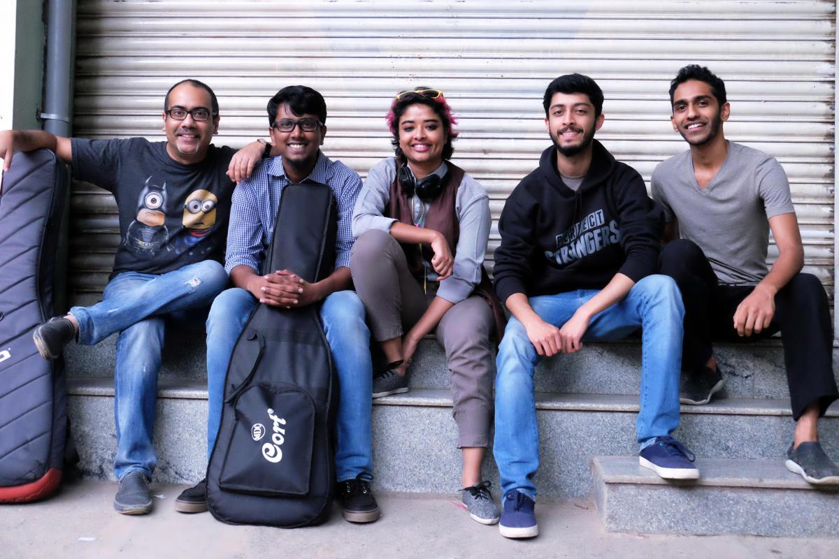 Music medley (From left) Debjeet Basu, Prashanth Gnanamuthu, Raphael Emileenaa, Preran Gulvady and Pranav D M; (below) Joshua Costa. Photos by author