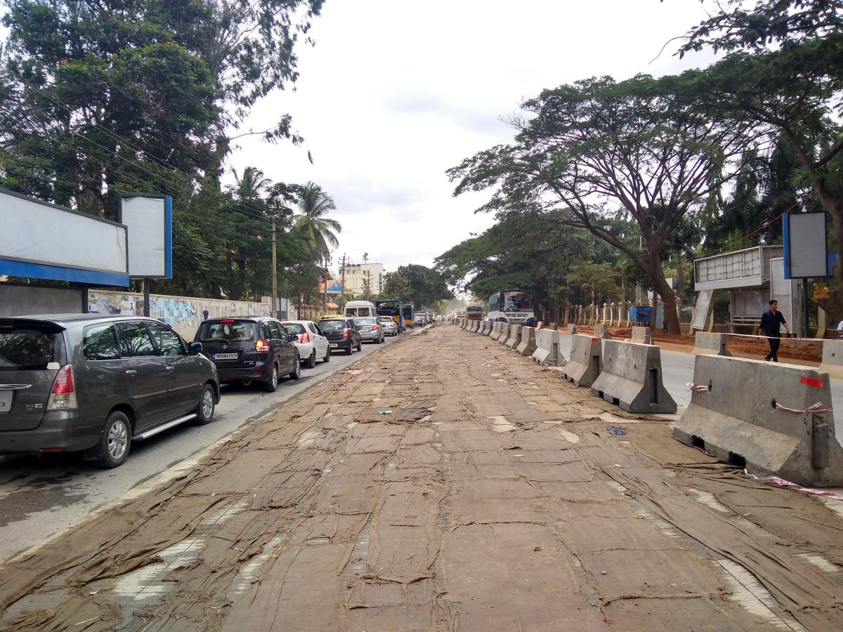 The white-topping work has hit regular commuters, especially those headed to the IT corridor of ITPL and Whitefield, who reside in the Kadugodi ward and its vicinity.