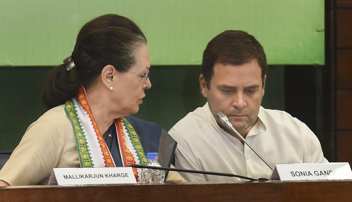 Congress President Rahul Gandhi and former president Sonia Gandhi. PTI file photo