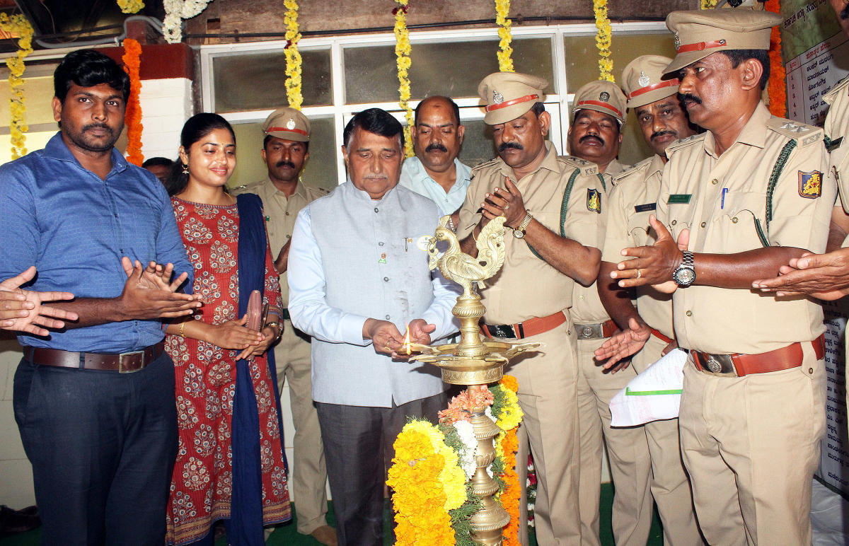 Lions district 317 C Governor Tallur Shivarama Shetty inaugurates blood donation camp organised as a part of Forest Martyrs' Day in Udupi on Tuesday.