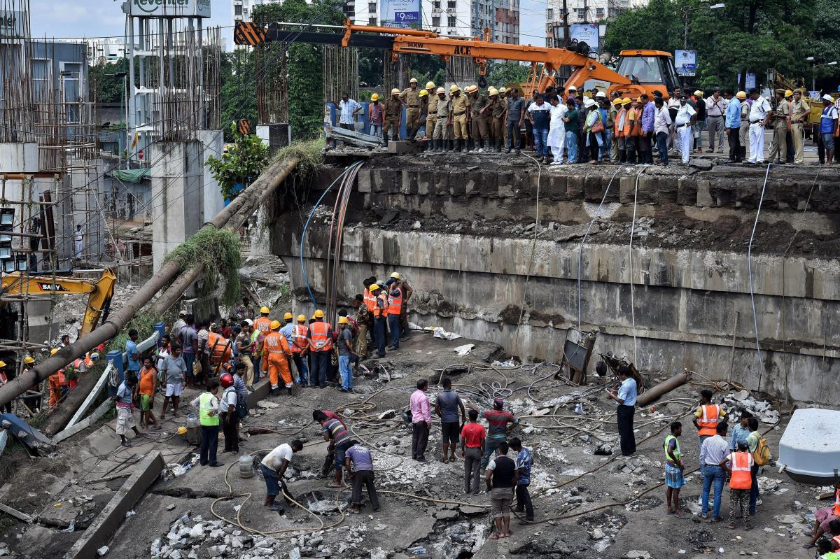 The Majerhat bridge, a portion of which collapsed last week, will be demolished and a new bridge will be constructed in a year, West Bengal Chief Minister Mamata Banerjee said on Friday. PTI file photo