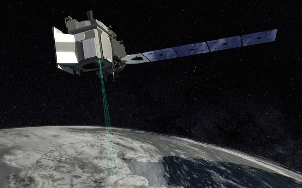 """The mission will inform sea level rise forecasts and is """"exceptionally important for science,"""" according to Richard Slonaker, ICESat-2 program executive at NASA. Image courtesy NASA"""