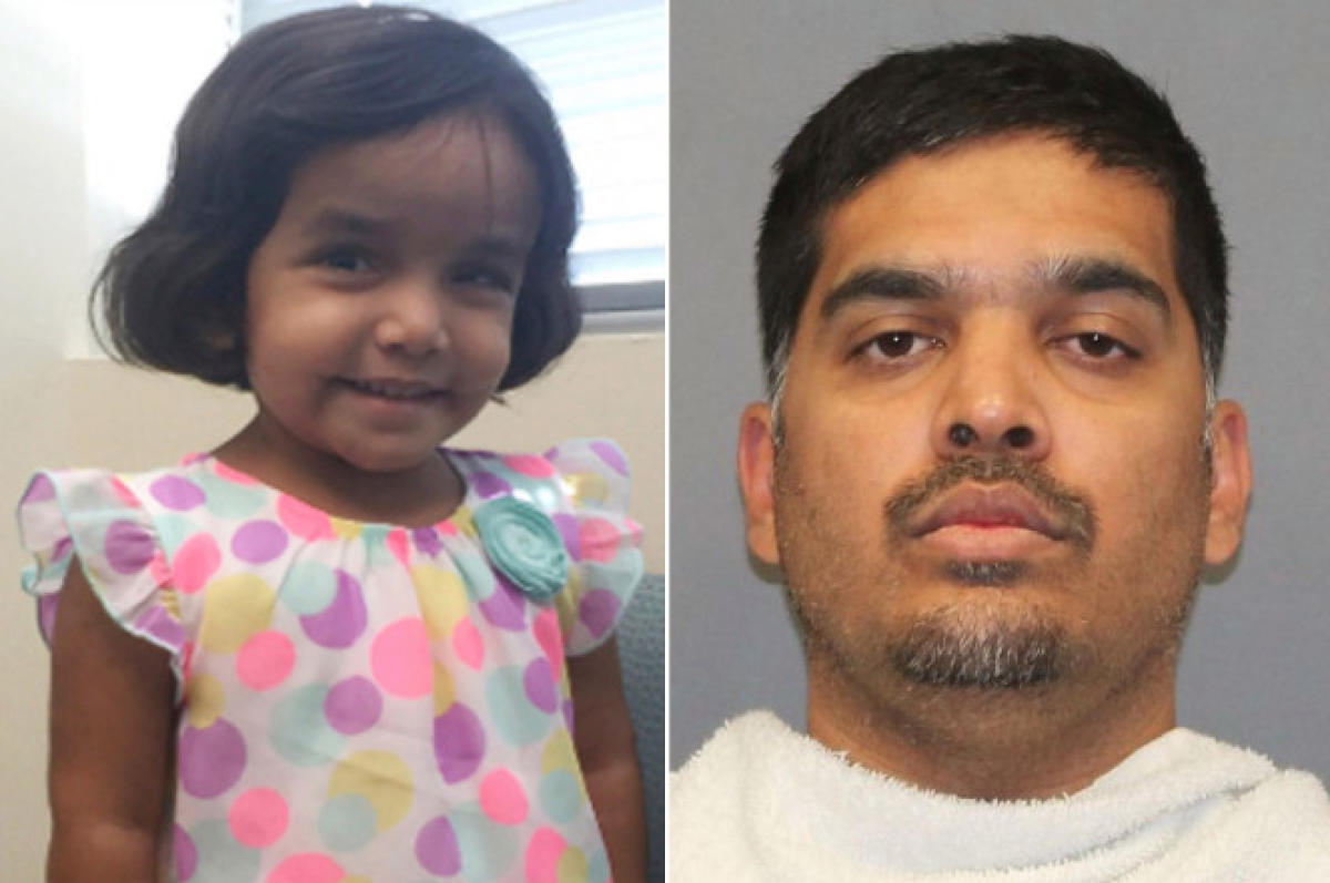 Sherin Mathews and her foster father Wesley Mathews.