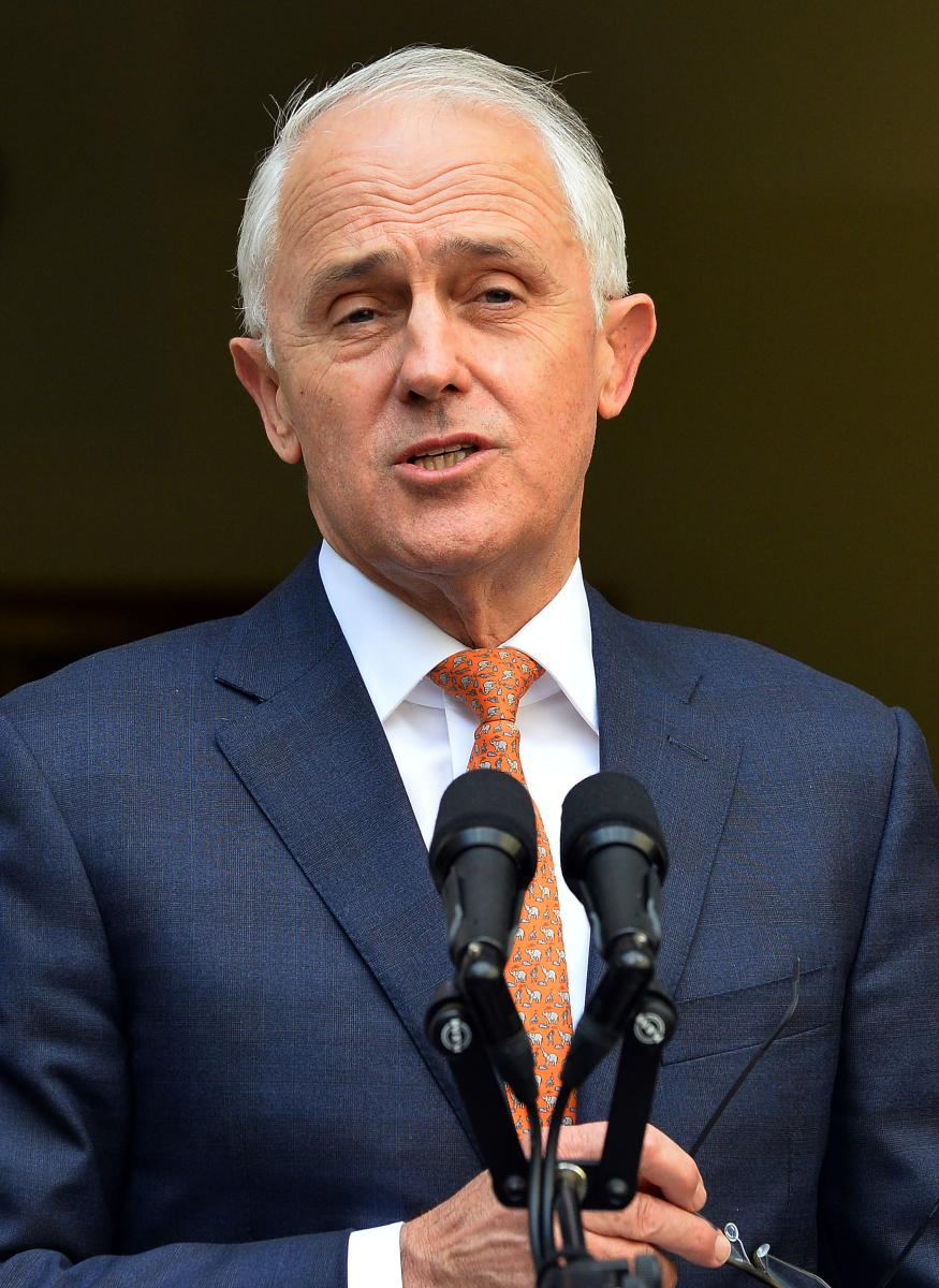 Australia's outgoing Prime Minister Malcolm Turnbull speaks at a press conference in Canberra on August 24, 2018. AFP