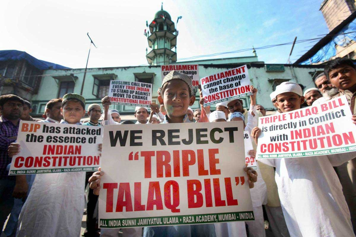 India and 22 other countries have banned the practice of instant triple tala. PTI file photo