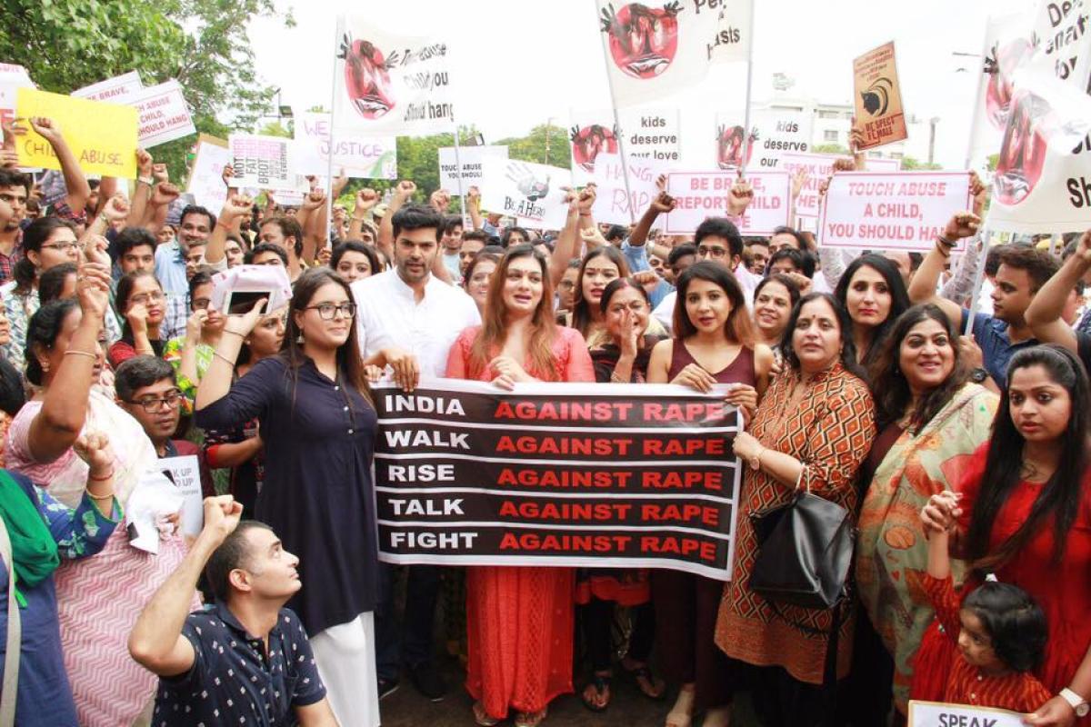Protest against Chennai rape accused in Chennai