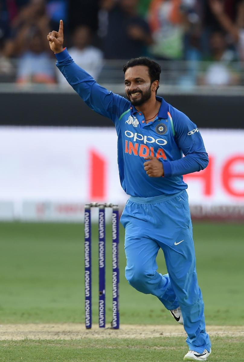 GOLDEN ARM Kedar Jadhav's three wickets were crucial in India's facile win over Pakistan in the Asia Cup on Wednesday. AFP