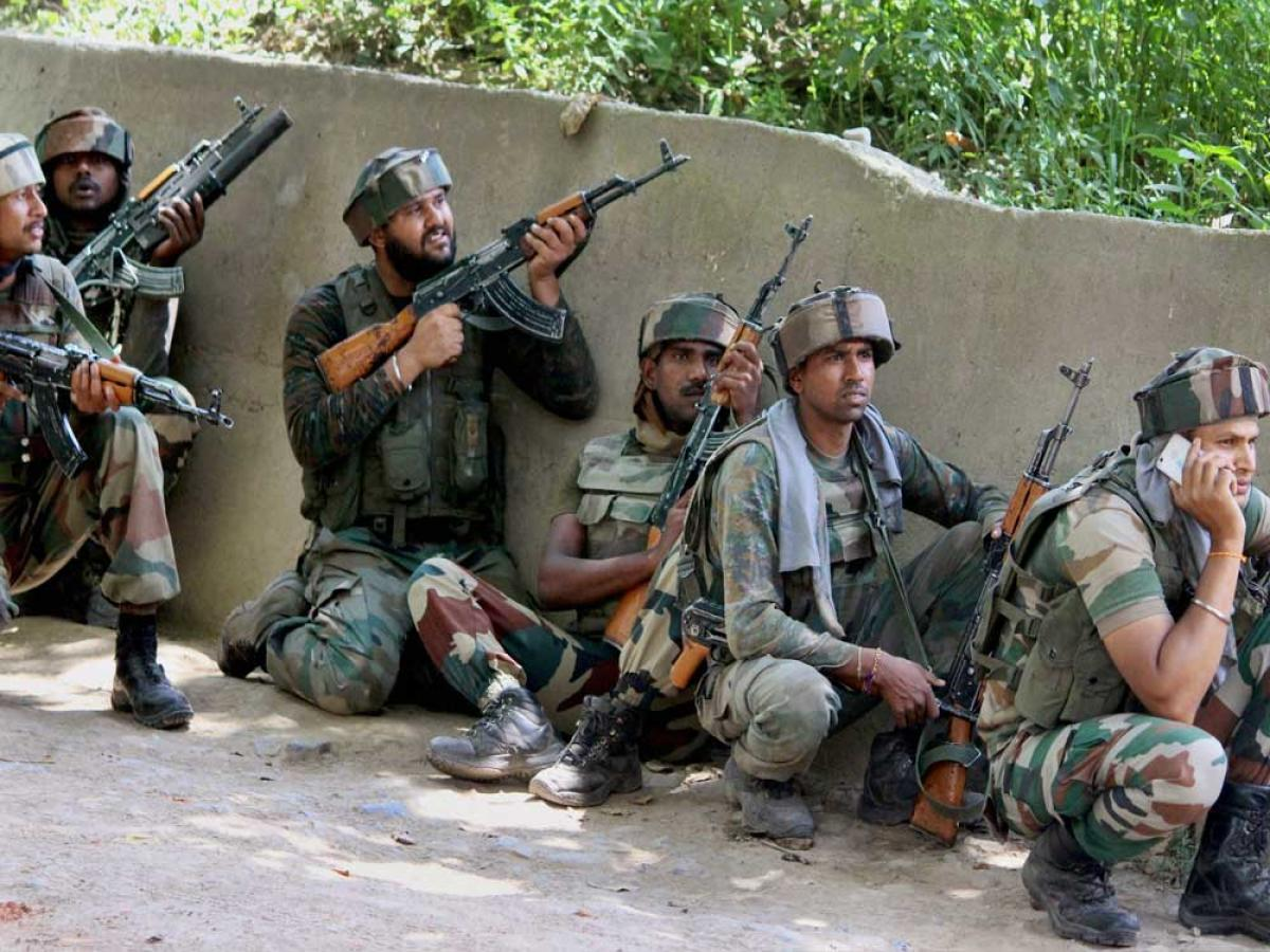 As the security forces were closing in, the militants opened indiscriminate fire on them, the official said. File photo