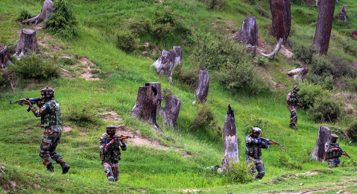 Four militants were killed in a gunbattle yesterday after security forces launched a search operation in the forest area on Monday, following information about the presence of militants there. (File Image for representation)