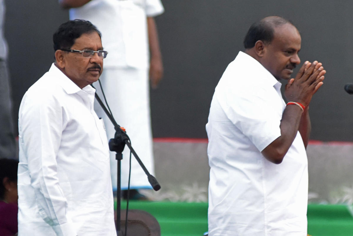 Dr G Parameshwara, Deputy Chief Minister, and H D Kumaraswamy, Chief Minister