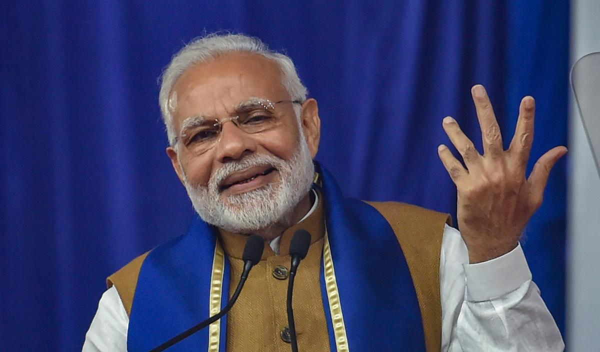 The 'Swachhta Abhiyan' or cleanliness drive is not just about sanitation but also about mental purity, PM Modi said, asking people to share good things around them on social media. PTI Photo
