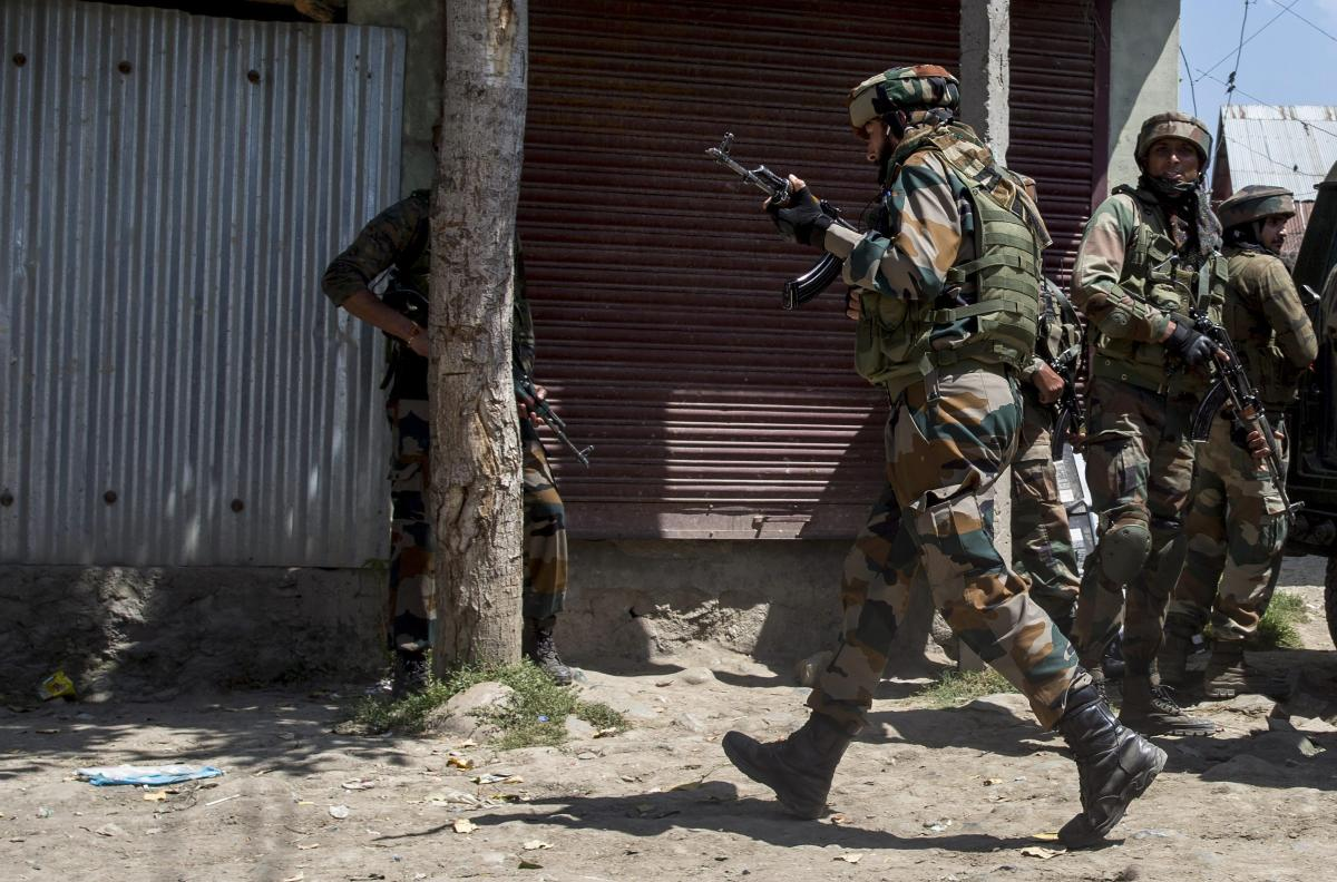 Reports said the Army, the Jammu and Kashmir police and the paramilitary CRPF Monday morning cordoned off 20 villages in southern Pulwama district to nab the militants.