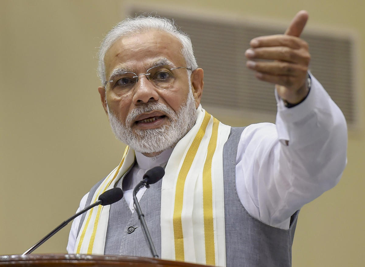 Inaugurating the Global Mobility Summit, MOVE, Modi said that the proposed policy will be awin-win situation for both clean fuel vehicle users as well as automobile makers. (PTI File Photo)
