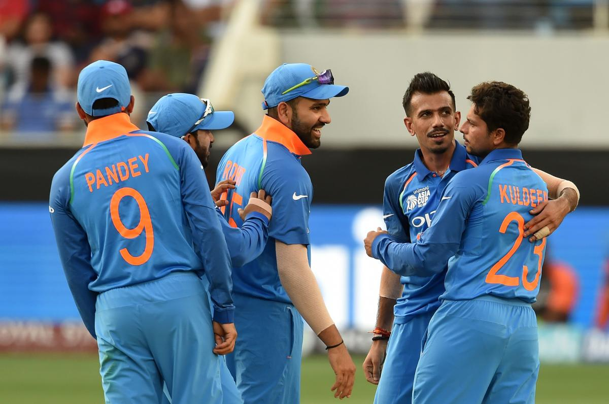 HAPPY BUNCH: After a dominant win over Pakistan, India start favourites against Bangladesh in their opening Super Four match on Friday. AFP