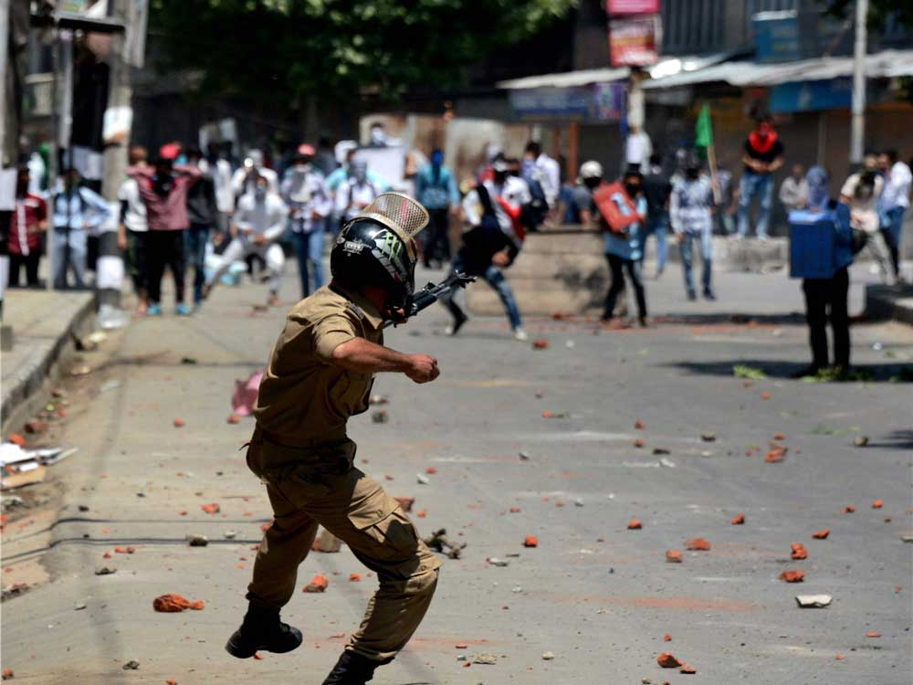 Since the imposition of Governor's rule in Jammu and Kashmir on June 20, 176 people have been arrested for pelting stones, Ahir said in reply to another question. (PTI File Photo)