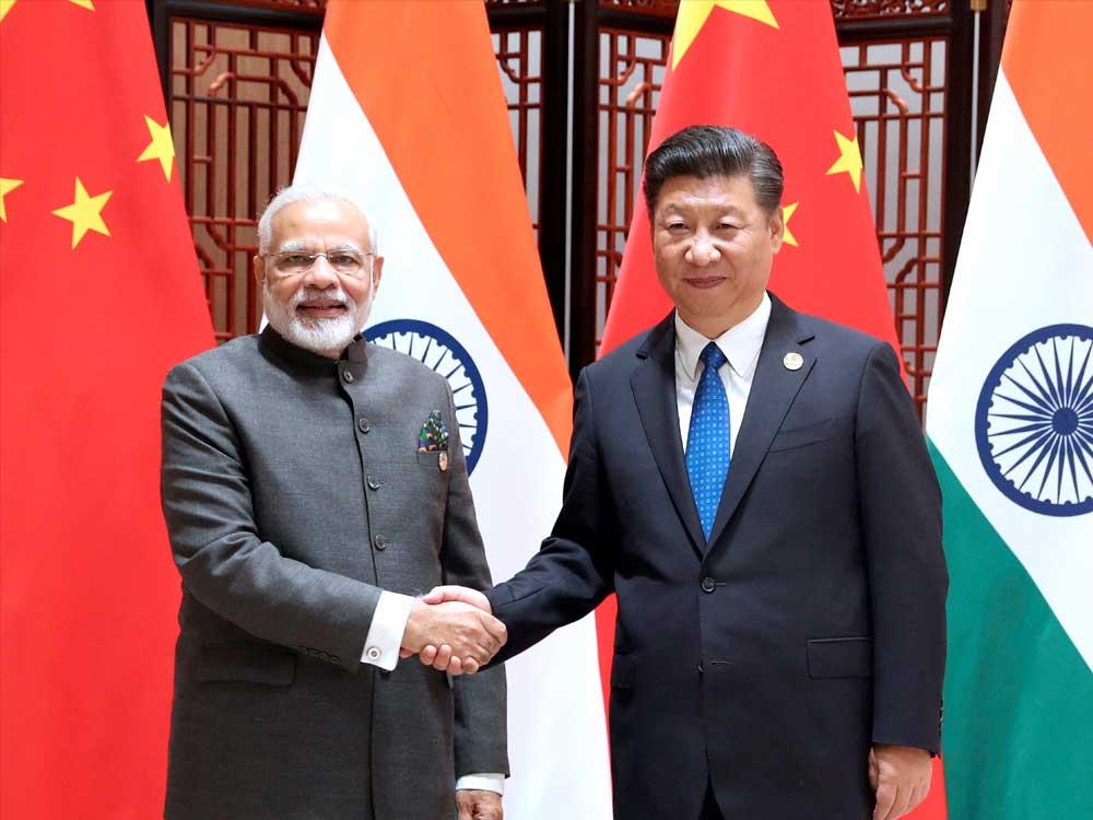 Prime Minister Narendra Modi with Chinese President Xi Jinping. PTI File Photo