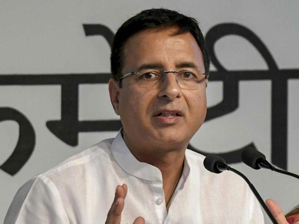 In picture: Congress communication chief Randeep Surjewala. PTI file photo.