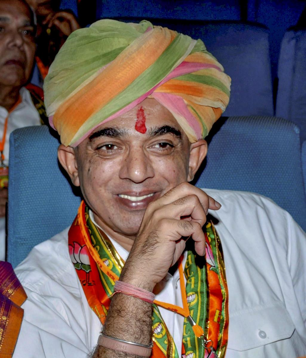 File picture of Rajasthan MLA Manvendra Singh who Saturday, Sep 22, 2018, announced to quit BJP at the 'Swabhimaan Rally' in Barmer district. (PTI Photo)
