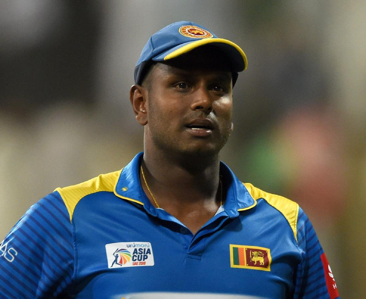 Angelo Mathews. AFP