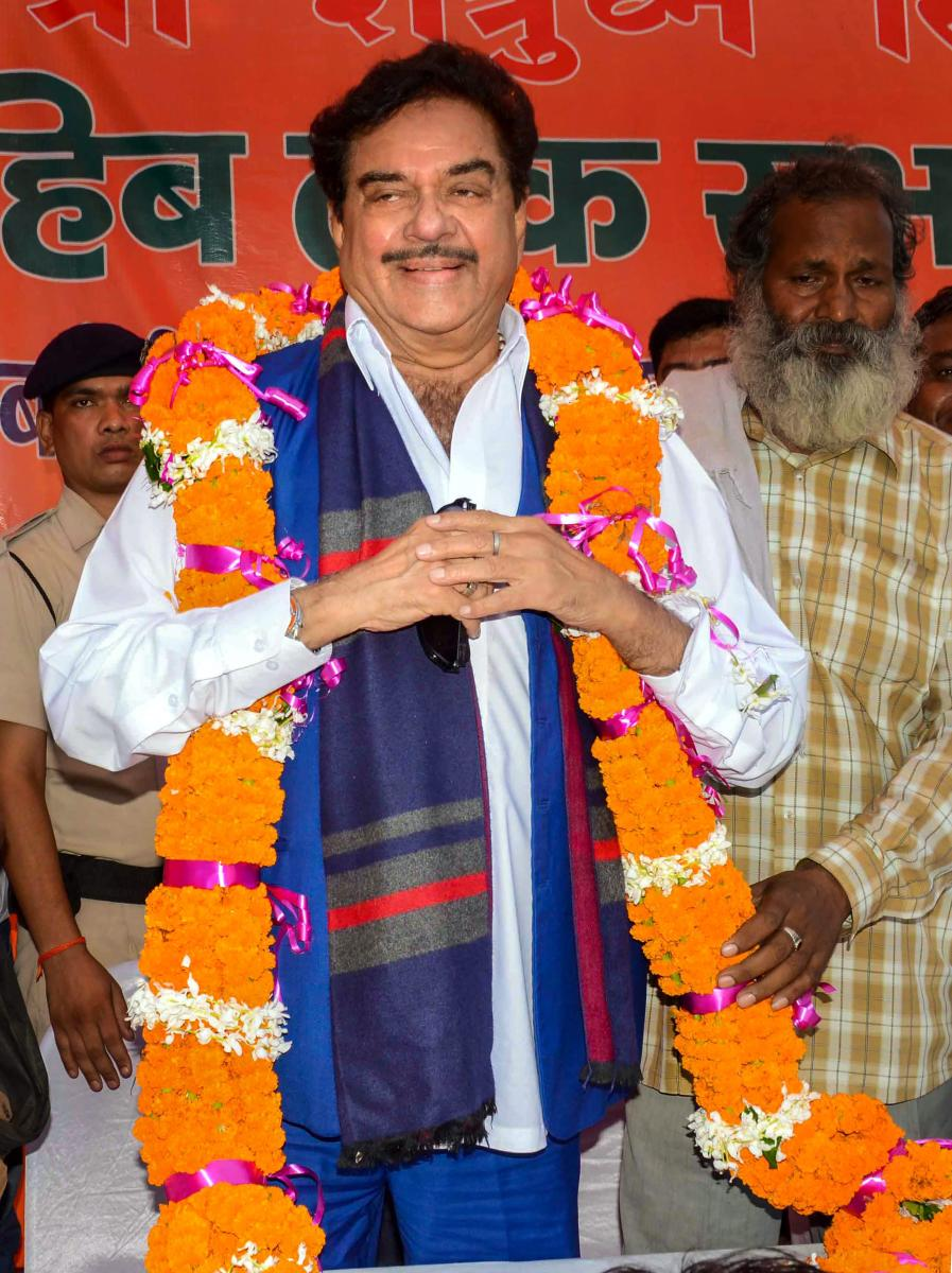 BJP MP Shatrughan Sinha on Monday drew flak from a fellow party parliamentarian who accused him of siding with opposition leaders like Rahul Gandhi and Lalu Prasad by questioning Narendra Modi government on the Rafale deal. PTI photo