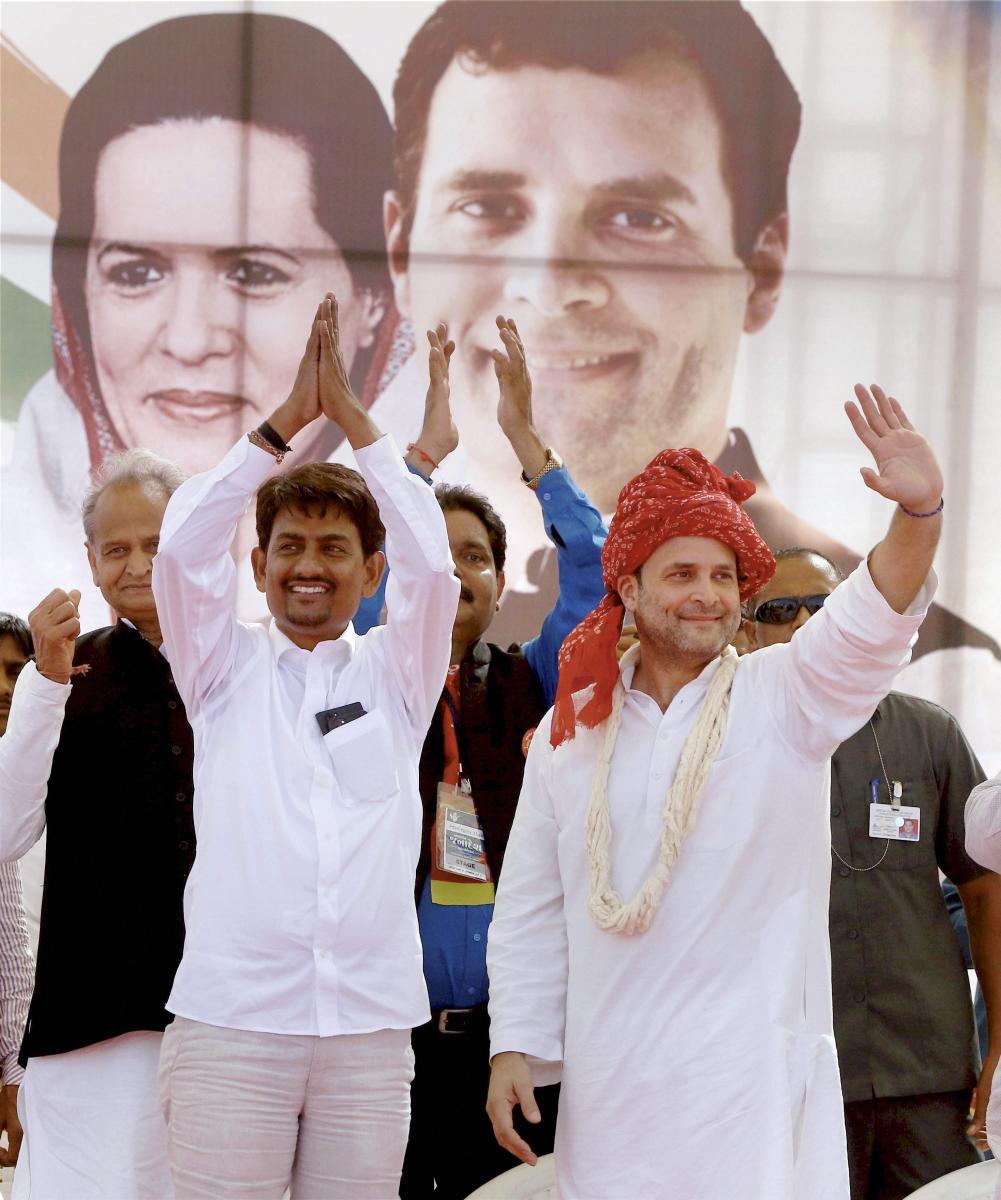 Rahul Gandhi with Alpesh Thakor. PTI file photo