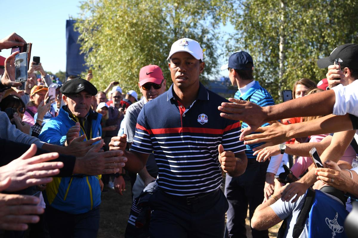 EVERGREEN HERO: Although Tiger Woods is an American, he's set to get a raucous reception from the fans at Le Golf National Course when the Ryder Cup kicks off on Friday. AFP