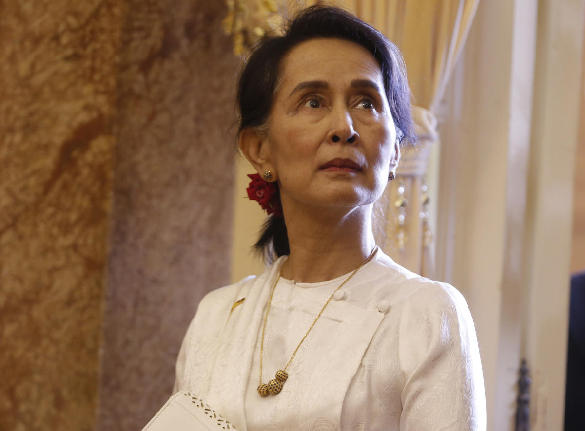 Myanmar State Counsellor Aung San Suu Kyi during the World Economic Forum on Asean in Hanoi on September 12, 2018. (AFP File Photo)