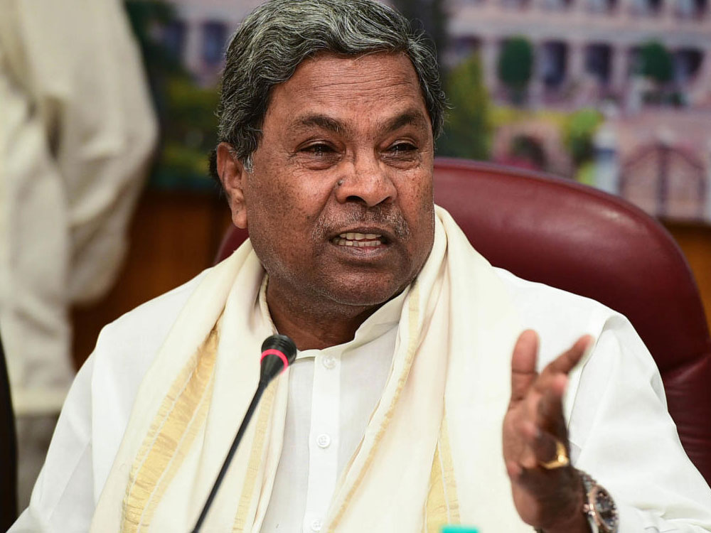 Chief Minister Siddaramaiah alleged that Deve Gowda is not able to see any other leader in the party, beyond his sons. DH File Photo